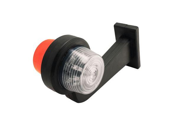 Bild von Seitenbegrenzungslampe Weiß / Orange Glas