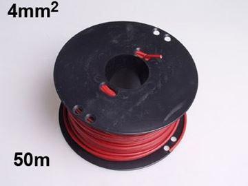 Bild på 50 meter 4,0mm² 1 ledad Röd isolering