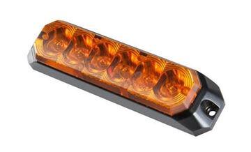 Bild på Blixtljus 6led 12-36V 0,3A orange ECE R65 Klass 2