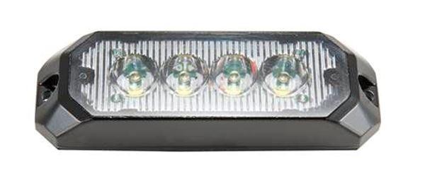 Bild på Blixtljus 4 LED 12-36V 0,3 AMP klarglas